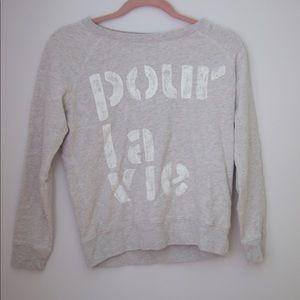 """Jcrew """"For Life"""" Sweatshirt"""